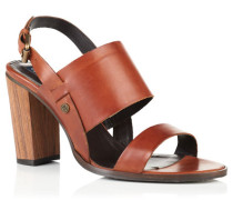 Damen Blake Wooden Heel Sandalen braun