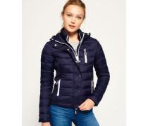Damen Hooded Fuji Slim Jacke mit Doppelreißverschluss marineblau