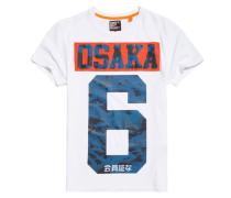Herren Osaka 6 T-Shirt mit Tarnmuster weiß