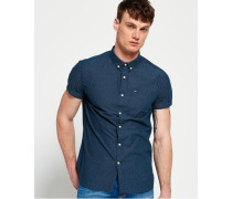 Herren Shoreditch Hemd mit Button-down-Kragen blau