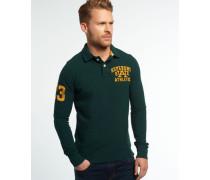 Herren Langärmliges Super State Polo-Shirt grün