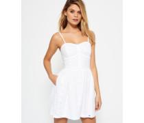 Damen 50's Boardwalk Kleid weiß