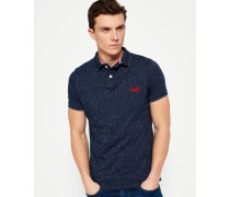 Herren End On End Jersey Polo-Shirt marineblau