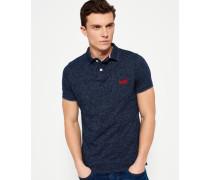 Herren End On End Jersey Polo-Shirt marineblau