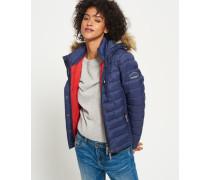 Damen Fuji Slim Kapuzenjacke mit Doppelreißverschluss marineblau