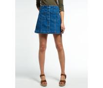 Damen Jeans-Mini in A-Linie blau