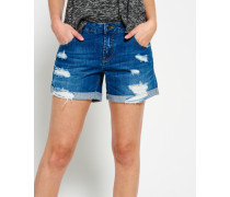 Damen Steph Boyfriend Shorts blau