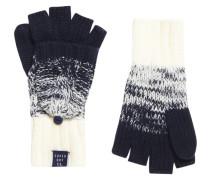 Damen Clarrie Handschuhe mit Zopfmuster marineblau