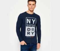 Herren Surplus Goods Long Sleeve Graphic T-Shirt blau