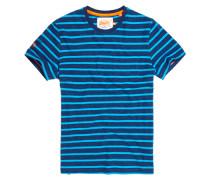 Herren Classic Stripe Pocket T-Shirt marineblau