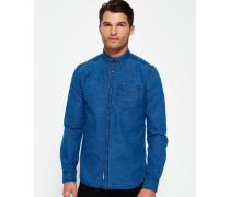 Herren Indigo Loom Oxford-Hemd blau