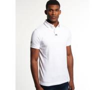 Herren Classic Piqué Polo-Shirt weiß