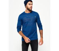 Herren Tonales Vintage Authentic Langarm-T-Shirt blau
