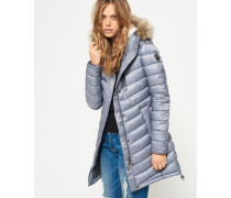 Damen Chevron Super Fuji Felljacke hellgrau