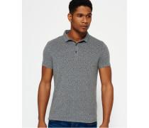 Herren City Motif Polo-Shirt grau