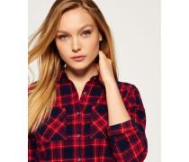 Damen Lumberjack Twill-Hemd rot