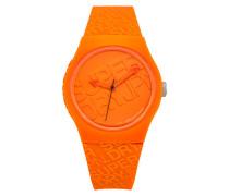 Urban Colour Block Uhr orange