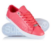 Damen Super Sleek Logo Low-Top Sneaker koralle