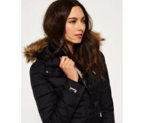 Damen Fuji Slim Double Zip Kapuzenjacke schwarz
