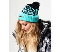 Damen Snow Logo Mütze türkis
