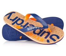 Herren Cork Flip Flops blau
