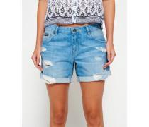 Damen Steph Boyfriend Shorts blau