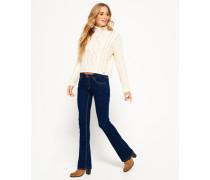 Damen Zadie Kick Flare Jeans blau
