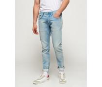 Herren Jogger Jeans blau