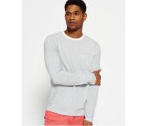 Herren Lite Loom City Stripe Long Sleeve T-Shirt weiß