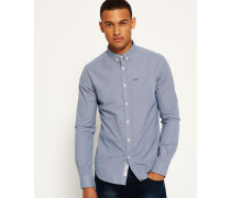 Herren London Button-Down Hemd marineblau