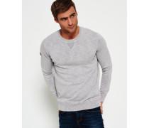 Herren Garment Dyed L.a. Crew Neck Sweatshirt grau