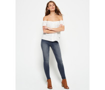 Damen Sophia High Waist Super Skinny Jeans hellgrau
