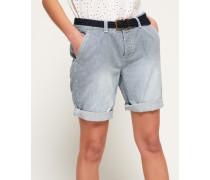 Damen International City Shorts blau