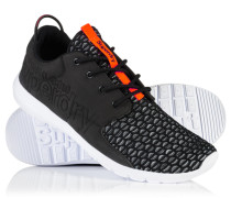 Herren Sport Weave Runner Turnschuhe schwarz