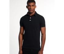 Herren Classic Piqué Polo-Shirt schwarz
