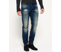 Herren Biker Tapered Jeans blau