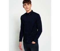Herren Tailored Slim Fit Hemd marineblau