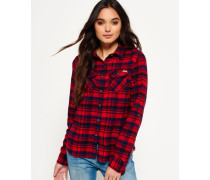 Damen Milled Flannel Hemd rot