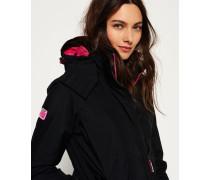Damen Pop Zip Arctic Windcheater-Kapuzenjacke schwarz