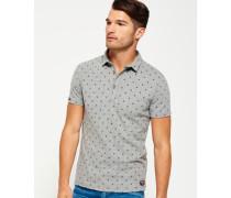 Herren City Jersey-Polohemd mit durchgehendem Print hellgrau