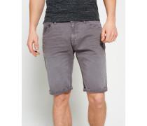 Herren Worn Wash Jeanshorts grau