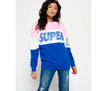 Damen Japan City Breakers Pullover mit Rundhalsausschnitt pink