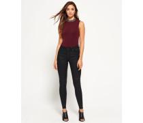 Damen Sophia High Waist Super Skinny Jeans schwarz