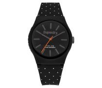 Damen Urban Micro Armbanduhr schwarz