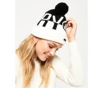 Damen Snow Logo Mütze schwarz