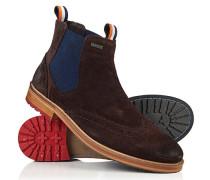 Herren Brad Brogue Chelsea Boots braun