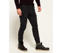 Herren Surplus Goods Low Rider Cargohose schwarz
