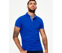 Herren Classic Upstate Polohemd aus Pikee blau