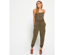 Damen Cargo Casual Jumpsuit grün