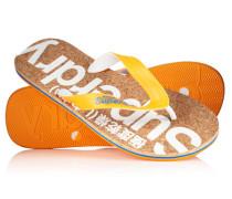 Herren Cork Flip Flops orange